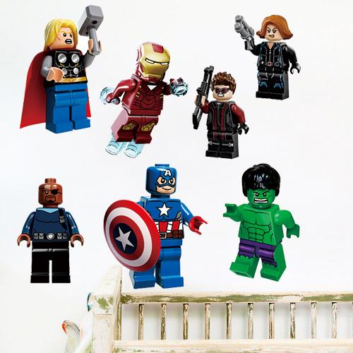 D The Lego Movie Avengers Super Heroes Wall Stickers For Kids - Lego superhero wall decals