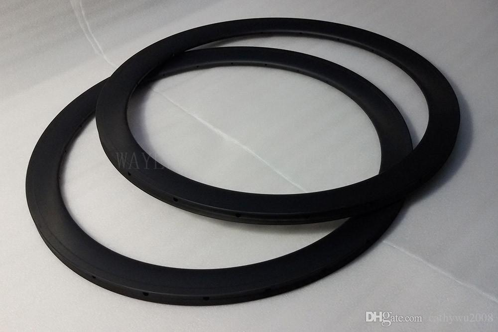 Tubular 50mm road bicycle rims 23mm width 20/24h front and rear carbon bike rims UD matt with braking track 25mm wide and basalt available