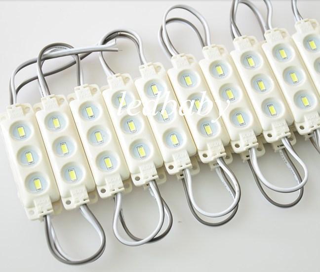 Neue Ankunft 5630 SMD führte Moduleinspritzung ABS Plastik 3Leds / 1.5W super helle weiße / warme weiße rote blaue gelbe Schnur wasserdichtes IP65