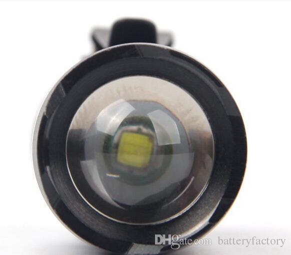 Ultrafile Mini FlashLight Cree Q5 LED مصباح يدوي الشعلة قابل للتعديل التركيز التكبير ماء مشاعل مصباح +14500 بطارية + شاحن 103i