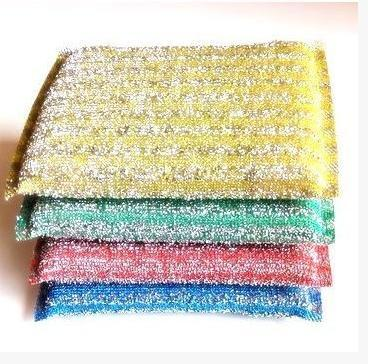 Microfiber Cloth Dish Cloth Silk Kitchen Sponge Cleaning Supplies 4 ...