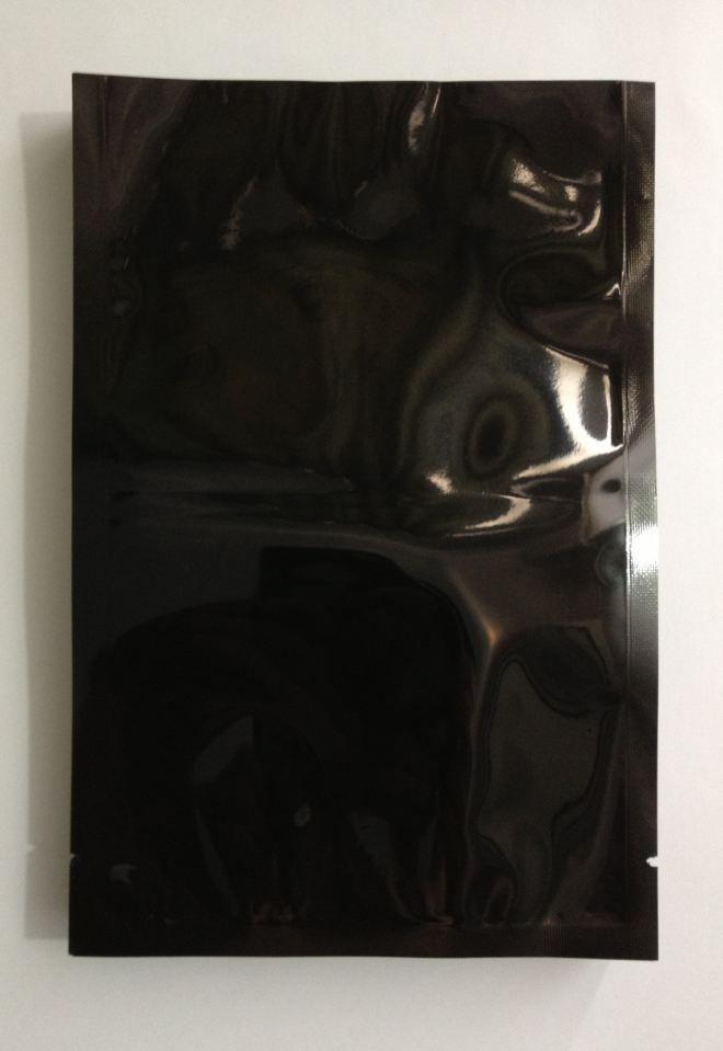 Freies verschiffen 9 * 13 hochwertige schwarz 100 teile / los heißsiegel aluminium Aluminizing folienbeutel heißsiegel verpackungsbeutel für lebensmittel pulver tasche