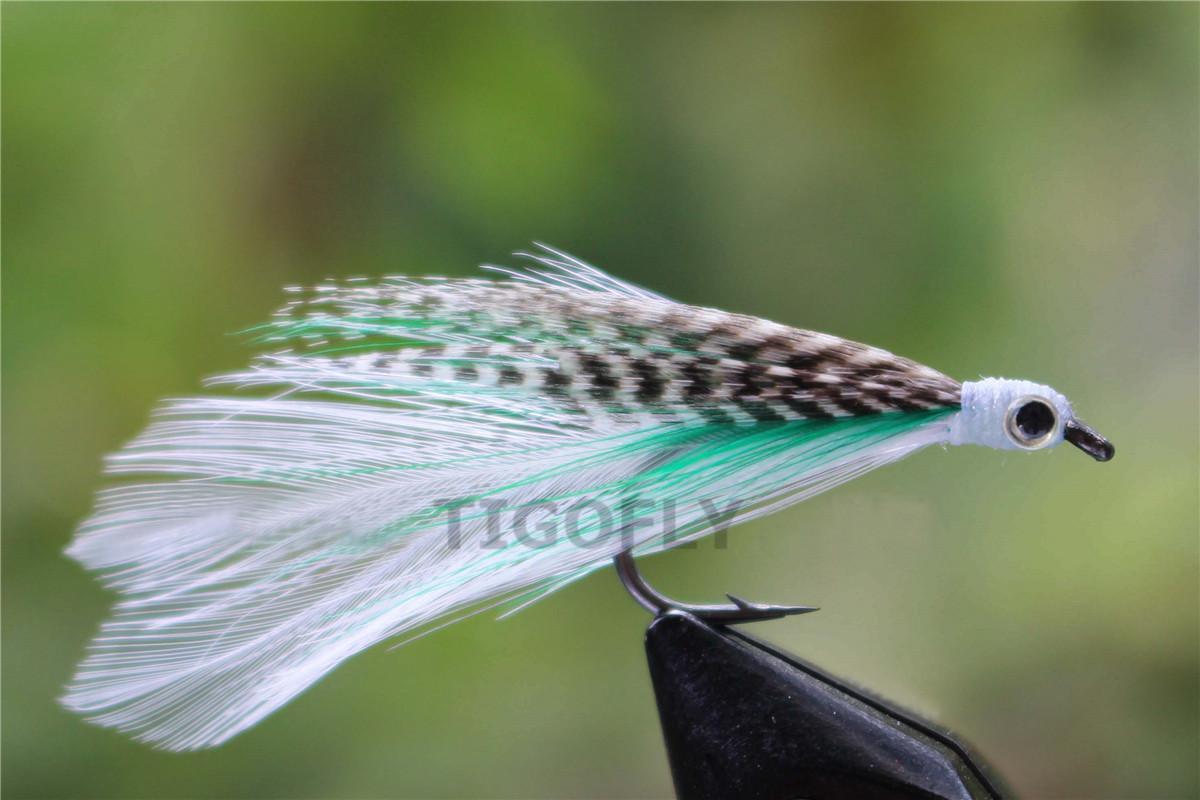 Tigofly 24 шт. / Лот со скидкой Fly Высокое качество волос крыло лосося форель Fly соленой воды Fly Fishing Flys приманки