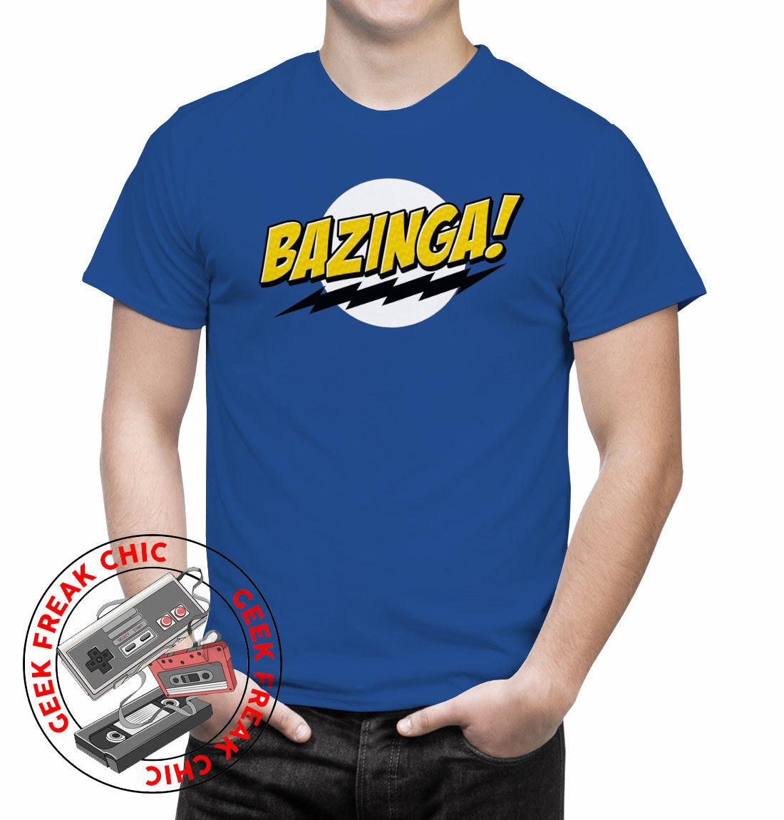 72ab44ced9 The Big Bang Theory Bazinga Men'S T Shirt Sheldon Cooper Leonard Penny  Comedy Urban T Shirts Irish T Shirts From Goodquality73, $11.17| DHgate.Com