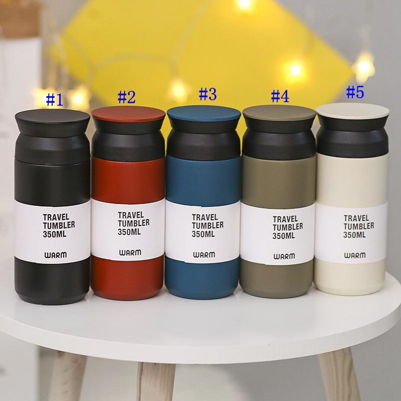 5 Colors 12oz Vacuum Tumbler outdoor Stainless Steel Skinny Travel Tumbler Vacuum Drinware Water Bottle MMA2462