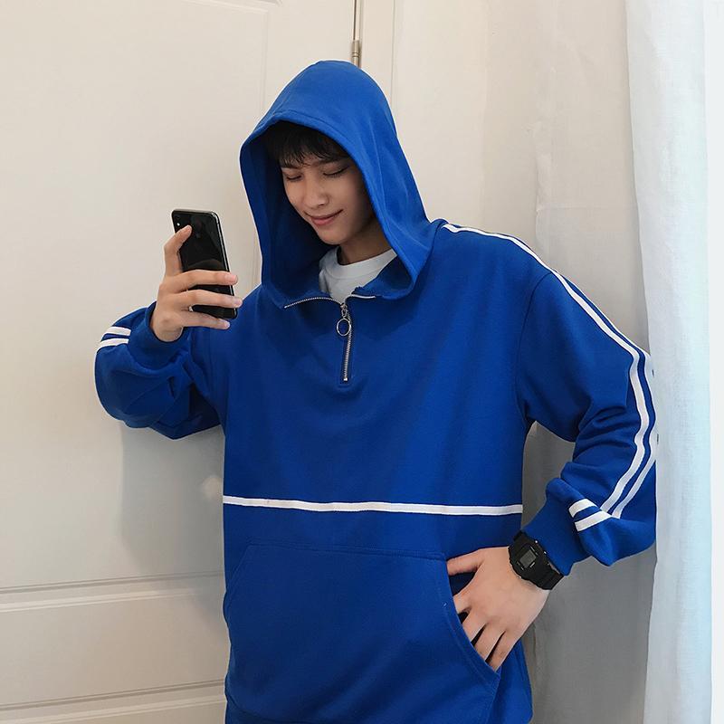Spirio Women Zipper Irregular Basic Hip-hop Sweatshirt Jacket with Pockets