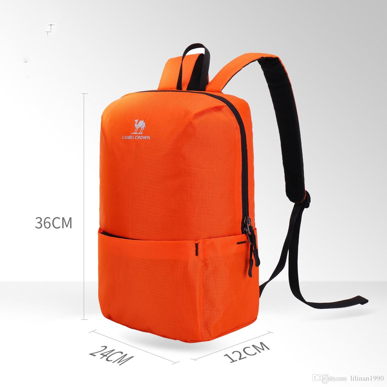 a43a9a0a7483 2019 Camel Sports Backpack Men And Women Outdoor 12L Light Tide Fashion  Travel Small School Bag From Lilinan1990