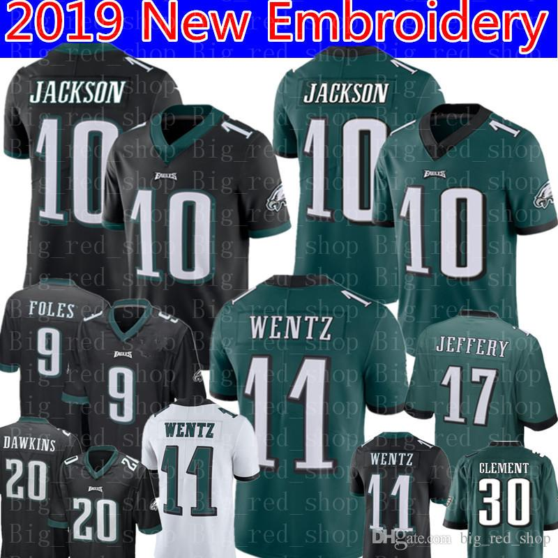 official photos 61adc e3f65 10 DeSean Jackson Philadelphia Eagles Jersey Mens 11 Carson Wentz 9 Nick  Foles 20 Brian Dawkins 17 Alshon Jeffery Football Jerseys