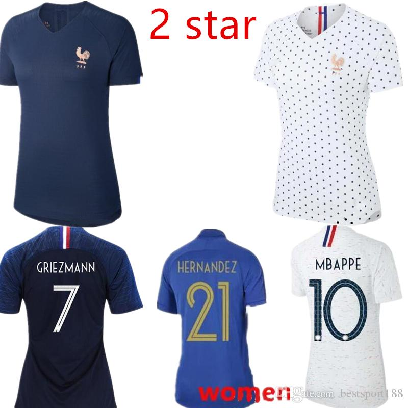 buy popular 6b00c 0f325 2018 2019 New france women Soccer Jersey World Cup 19 20 franch home away  football Female shirts s-xl