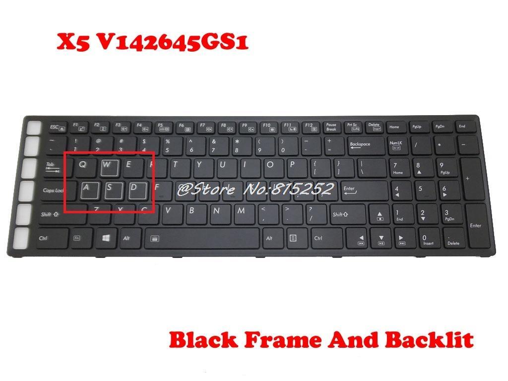 Keyboard For Gigabyte For AORUS X5 V142645GS1 2Z703-USX51-S11S  2Z703-KRX50-S10S United States Frame&Backlit