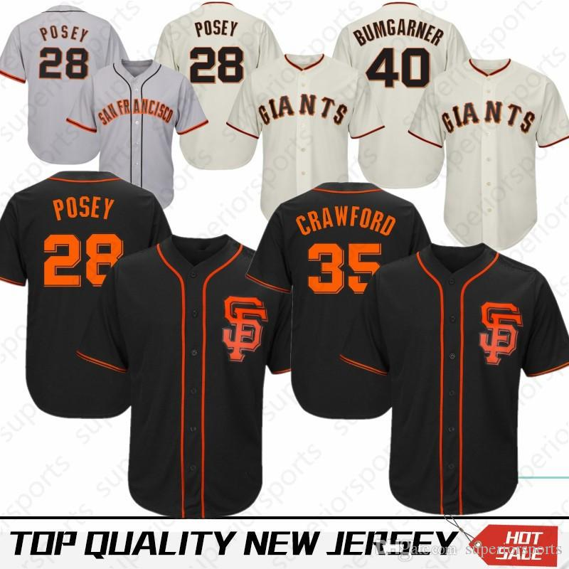 d7091db2 Embroidery 28 Buster Posey San Francisco Giants Jerseys 35 Brandon Crawford  22 Will Clark 40 Madison Bumgarner 100% Stitched Top quality