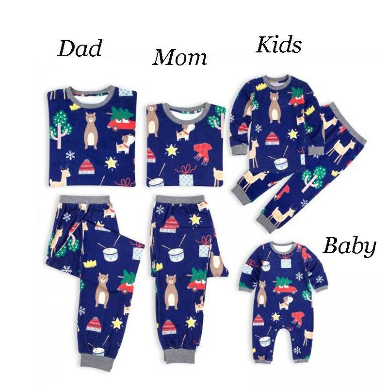 0e23536e79 Family Matching Christmas Pajamas Set Women Baby Kids Deer Sleepwear  Nightwear Matching Father Daughter Outfits Matching Clothes For Mom And Son  From ...