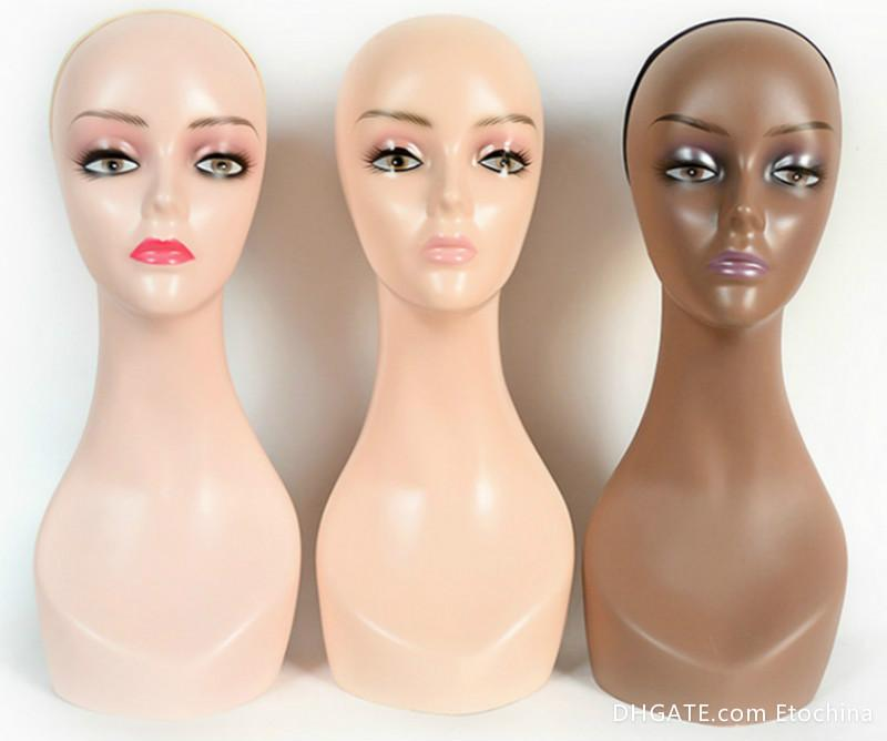 High Quality Female Different Skins Wigs Display Mannequin Head With Makeup Mainkin Model Head DHL FREE