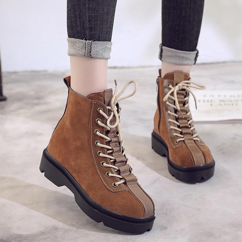 3a856030c17 2019 Fashion Warm Women Winter Boots Platform Lace Up Boots Female Casual Winter  Shoes With Fur Ankle High Footwear Fringe Boots From Wasabiu
