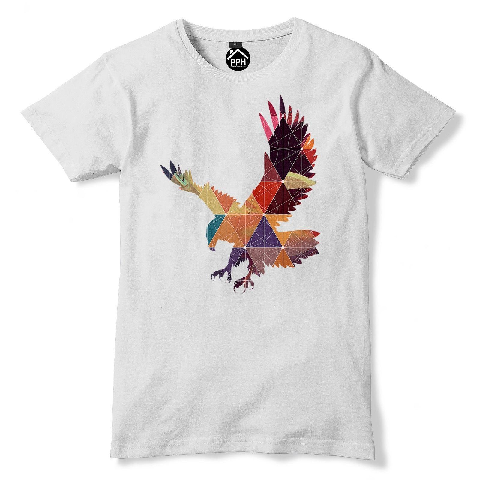 Geometric golden eagle t shirt bird hawk animal funny hipster triangle tshirt 74 personality 2018 brand short sleeve tops tee hip t shirt logos trendy t
