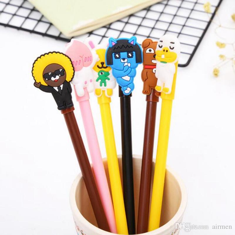 New Creative Cartoon gel pens demon chick Bunny Flamingo emoji unicorn doughnut office school stationery