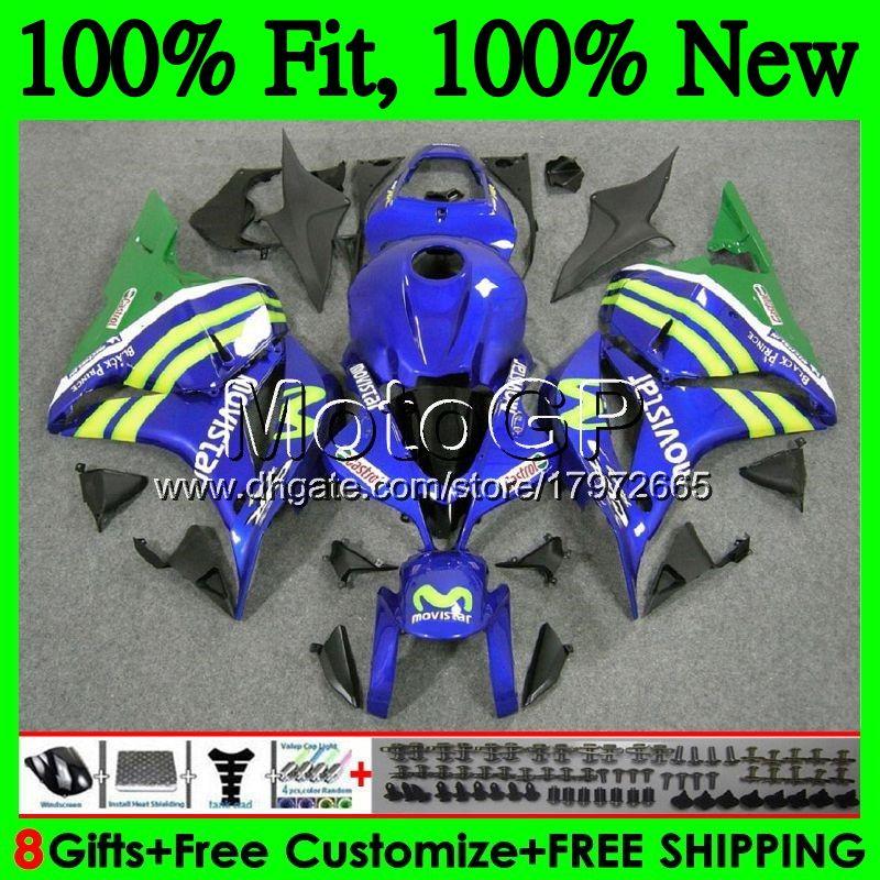 Iniezione + serbatoio Movistar Blue per HONDA CBR600RR CBR 600 RR F5 09 10 11 12 61GP17 CBR 600RR CBR600 RR 2009 2010 2011 2012 Carenatura Carena
