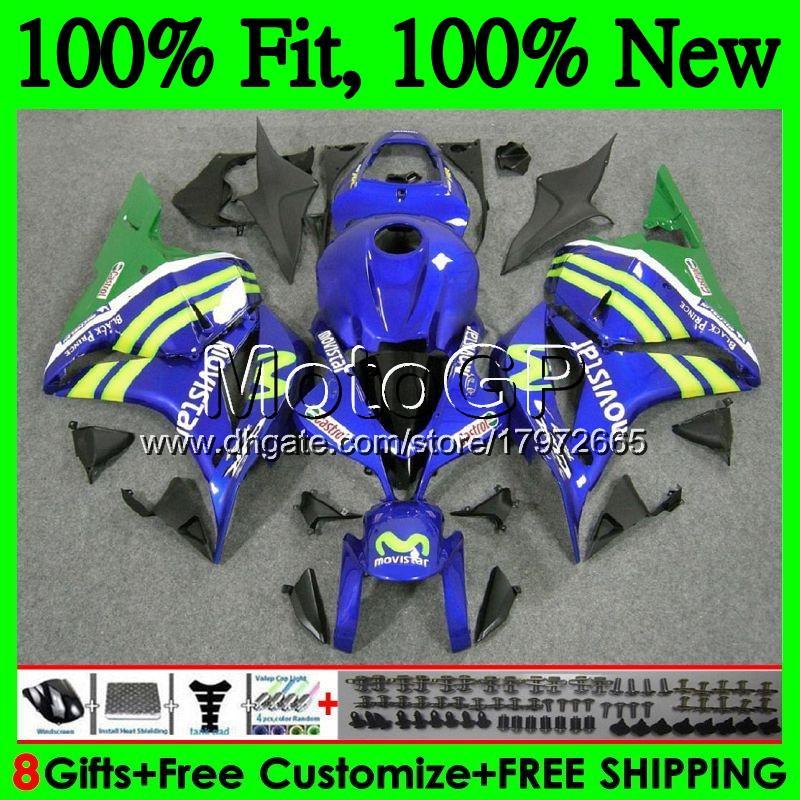 Injection+Tank Movistar Blue For HONDA CBR600RR CBR 600 RR F5 09 10 11 12 61GP17 CBR 600RR CBR600 RR 2009 2010 2011 2012 Fairing Bodywork
