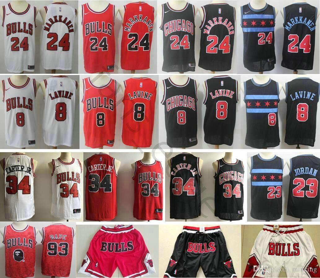 f8f7d8ee7 Chicago 8 Zach LaVine Jerseys Black Red White Bulls 23 Michael 24 ...