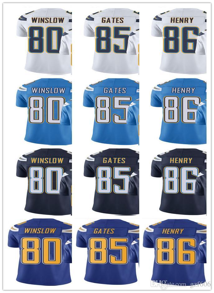 wholesale dealer a5e66 5af02 San Diego Men Women Youth Chargers Jersey #85 Antonio Gates 86 Hunter Henry  80 Kellen Winslow Vapor Limited Jerseys