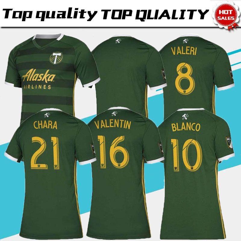 hot sale online dc238 a97d4 Size: S-XXL 2019 MLS Men s Portland Timbers home soccer jerseys 2019 2020  MLS BLANCO CHARA VALENTIN VALERI MEN Football Shirts thailand