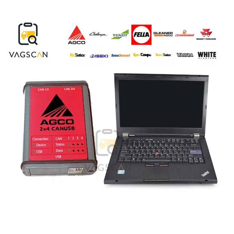 T420 laptop FENDT Truck Diagnosis AGCO CANUSB DIAGNOSTIC Tool for agricultural machinery AGCO Electronic Diagnostic Tool EDT