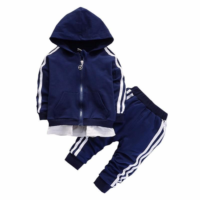 Spring Kids Children Cotton Knitted 2pcs Suits 2019 Boys Girls Letters Printed Long Sleeve Hoodies And Shorts Sets Tracksuits Mother & Kids