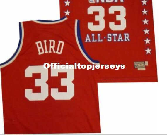 073dac57832 2019 Sewn East 1987 All Star Larry Bird #33 AD Top Red Jersey Mens Vest Top  Size XS 6XL Stitched Basketball Jerseys Ncaa From Officialtopjerseys, ...