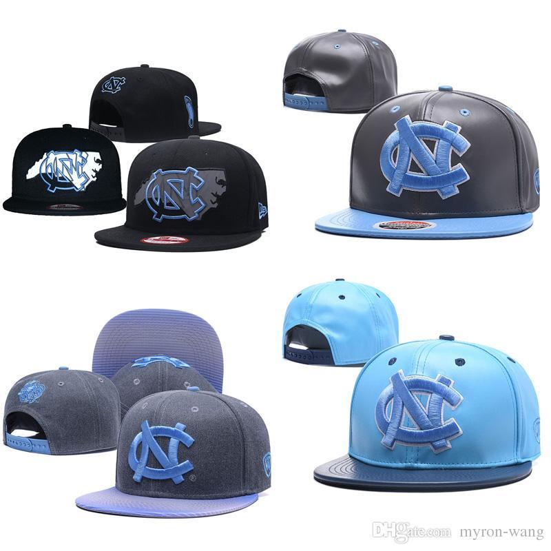 6fc8029522a 2019 Wholesale College Basketball Hats North Carolina Tar Heels Caps Black  Gray Blue Snapbacks Hat Adult And Youth Cap From Myron Wang