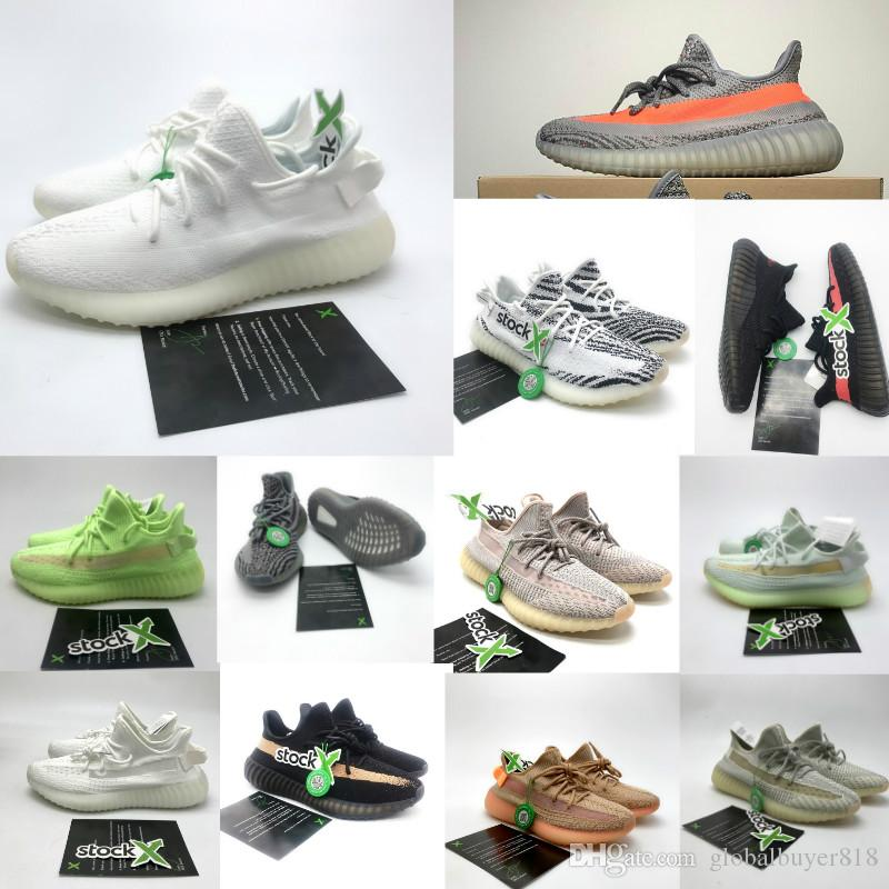 Adidas Yeezy 350 V2 basketball slipper boost Air jordan Puma Afshor Binle designer shoes red bottoms off white nmd Zebra Beluga 2.0 Мужчины Женщина кроссовки Athletic Размер 36-46