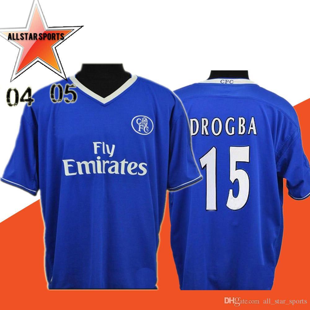 brand new 92b47 71d77 2004 2005 Retro Crespo Classic Soccer Jersey 03/05 Drogba Hasselbaink Zola  Lampard Soccer Shirt Velvet Name Lampard Custom Football uniform