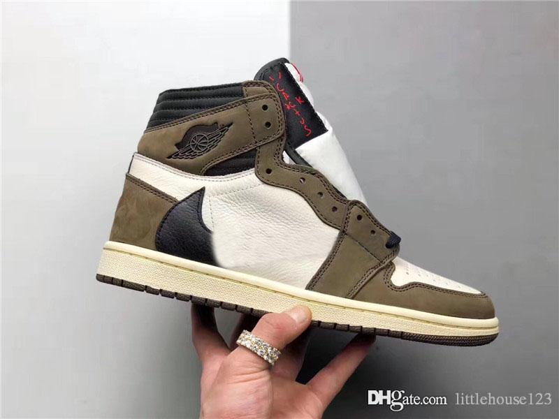 8d7c86beffa9 2019 2019 Hot Authentic 1 High Travis Scott OG TS SP 1S 3M Cactus Jack Sail Dark  Mocha UNIVERSITY RED Man Basketball Shoes Sneakers CD4487 100 From ...