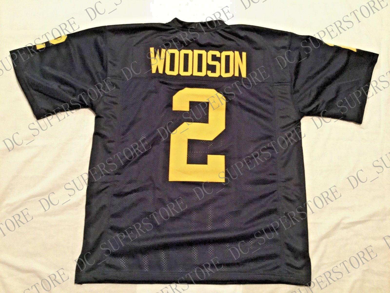 best sneakers 9b1e2 653e1 Custom Retro #2 Charles Woodson Blue Jersey - Mitchell & Ness Stitching  men's Football Jerseys size s-5XL or custom any name number