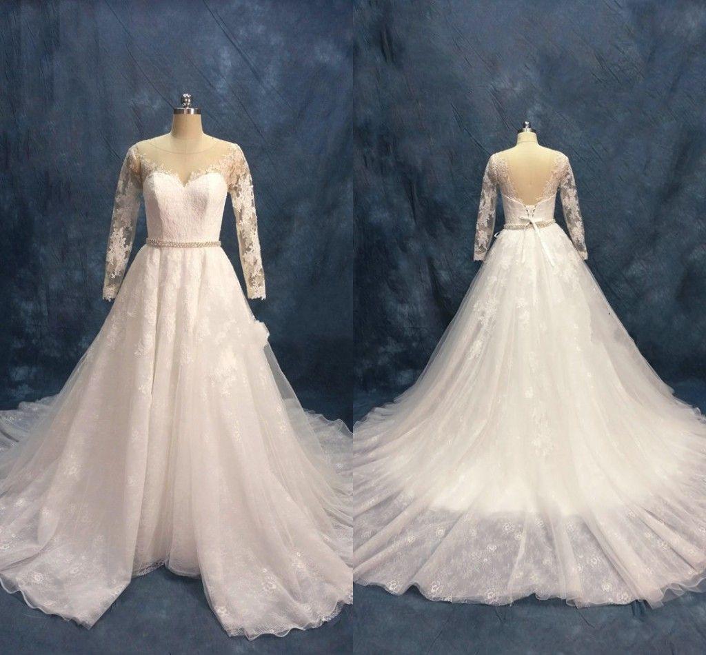 Cheap Open Back Ruffle Wedding Dress Discount European Lace Wedding Dresses 9428b0419308