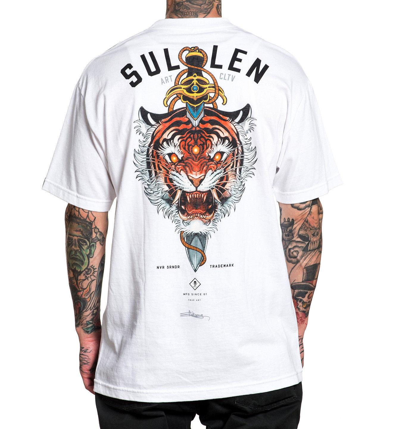 4c07613426a SULLEN CLOTHING Javan T-Shirt White M-3XL NEW Summer Hot Sale
