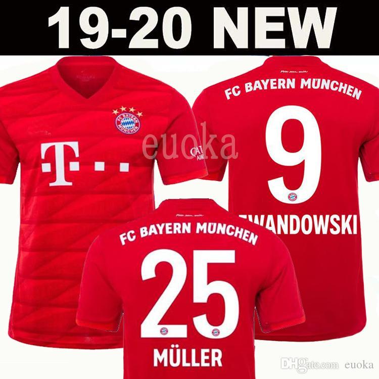 buy online 04a59 df2ca Thai New 2020 Bayern Munich JAMES RODRIGUEZ Soccer jersey 2018 2019  LEWANDOWSKI MULLER KIMMICH jersey 19 20 HUMMELS Football shirt