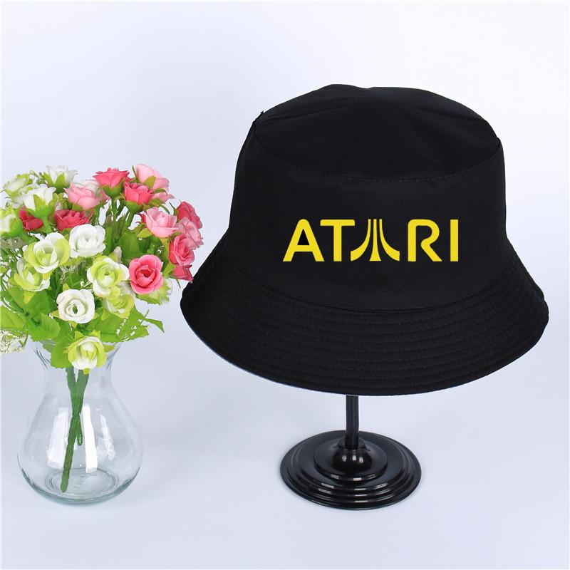 08a291aae5e90 ... where to buy atari logo summer hat women mens panama bucket hat atari  design flat sun