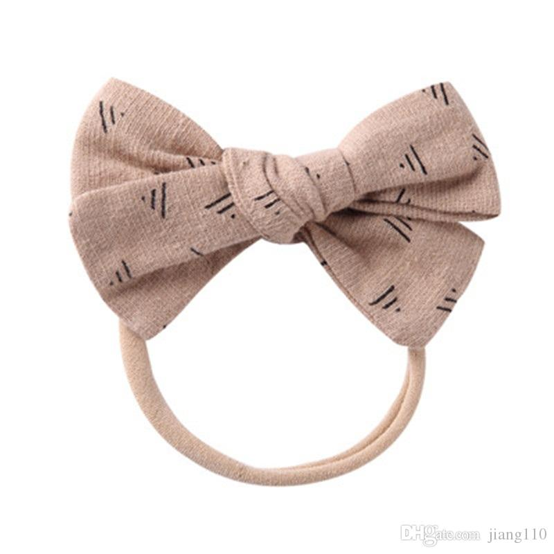 Girl's Accessories Apparel Accessories Korea Fabric Tie Knot Hair Ands Embroidery Hairband Flower Crown Headbands For Girls Hair Bows Hair Accessories D