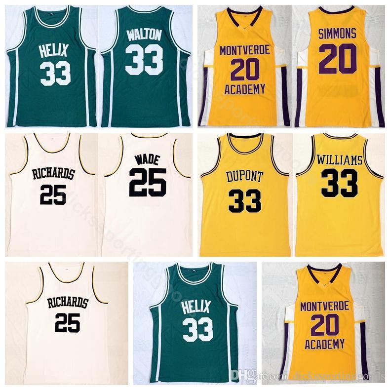 485a6adf85c 2019 College High School Basketball 20 Ben Simmons Jersey Montverde Academy  Eagles 25 Dwyane Wade 33 Bill Walton 33 Jason Williams From Top sport mall