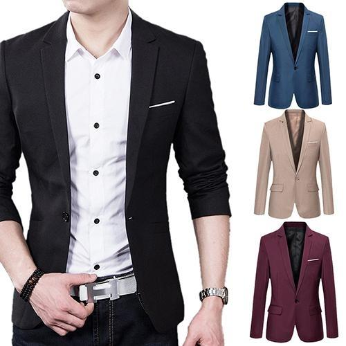 Fashion Business Casual manches longues hommes poches costumes Costume de mariage CoatMX190929