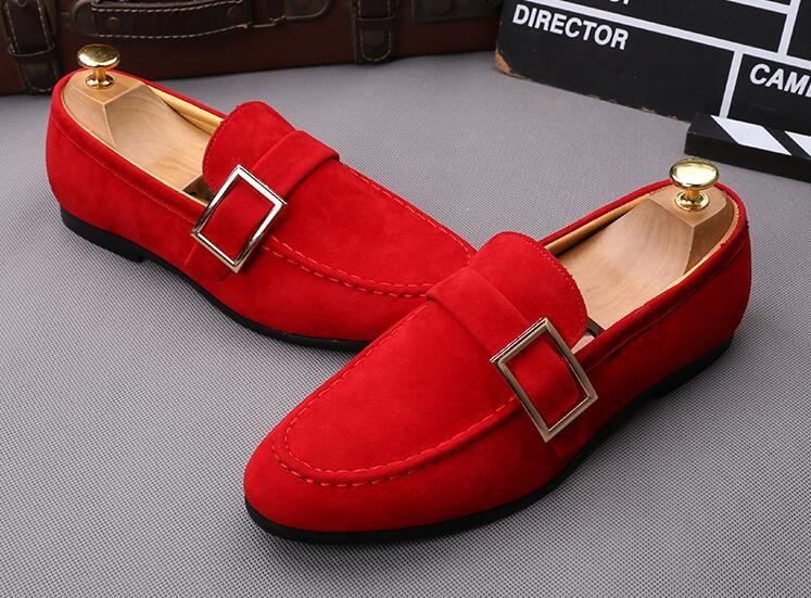 2bda0cd125 Os homens os mais novos bowknot camurça mocassins vestido de noiva masculino  apartamentos senhores casual deslizamento em sapatos de couro homens sapatos  ...