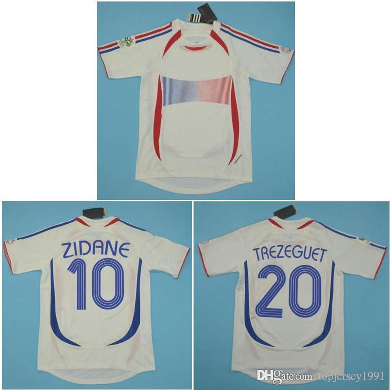 new concept d654b a98af Top 2006 World Cup FRANCE Retro Jerseys ZIDANE Soccer Jersey HENRY Vintage  classical 06 Football Shirt PIRES maillot de foot