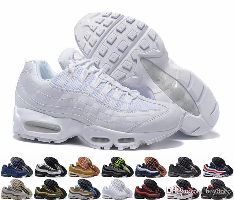 2019 Nike air max airmax chaussures de designer coussin 95 OG, hommes de haute qualité marine et meilleures chaussures de sport de code EUR36 45