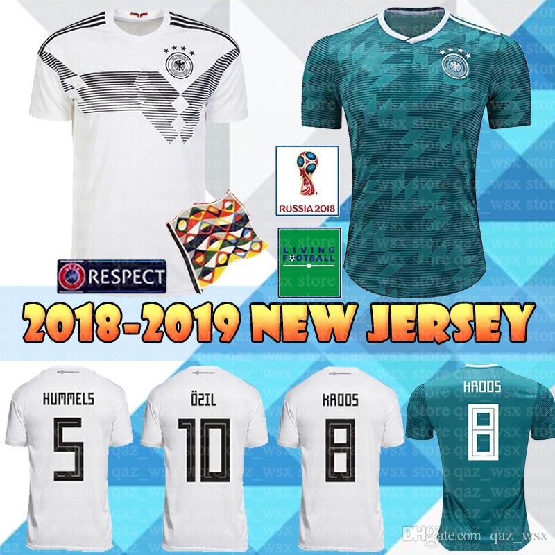 best website 5a485 1e282 2018 World Cup Germany Home Soccer Jersey 18 19 OZIL KROOS WERNER Jerseys  MULLER HUMMELS KHEDIRA DRAXLER Men Thailand football shirt