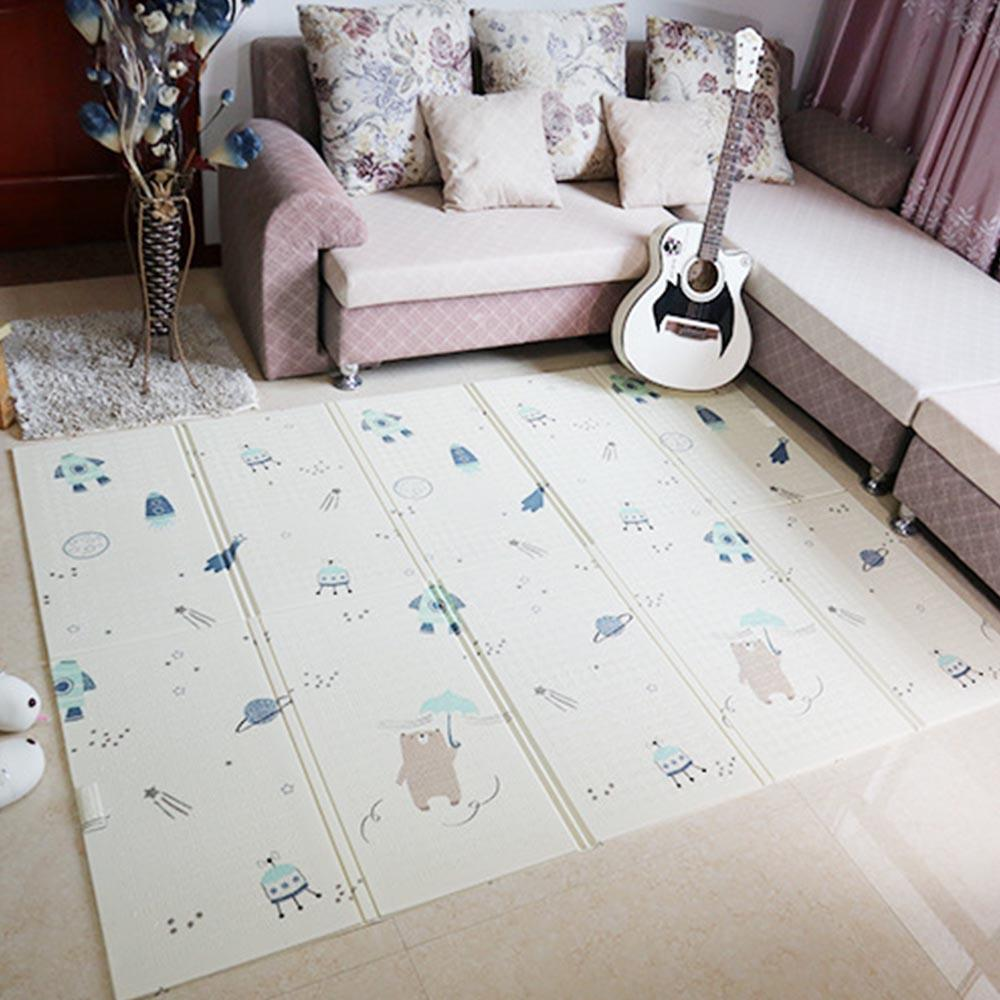 Kids Play Mat Folding Puzzle Playmat Game Pad for Infants Foam Crawling Mat Pack and Play Mattress 150*200*1CM