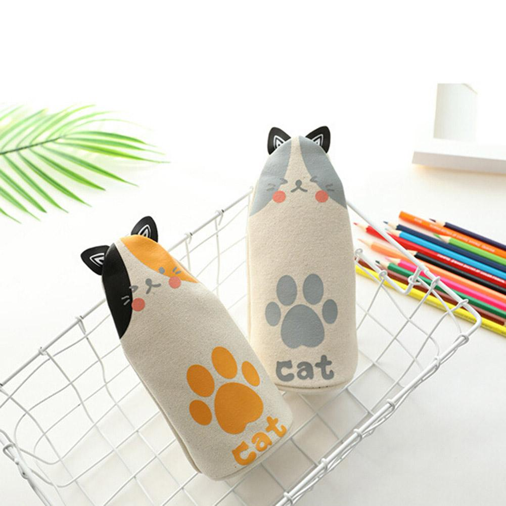 Cats Pencil Case Fabric Quality School Supplies Stationery Gift School Cute Pencil Box Pencilcase Bag Tools