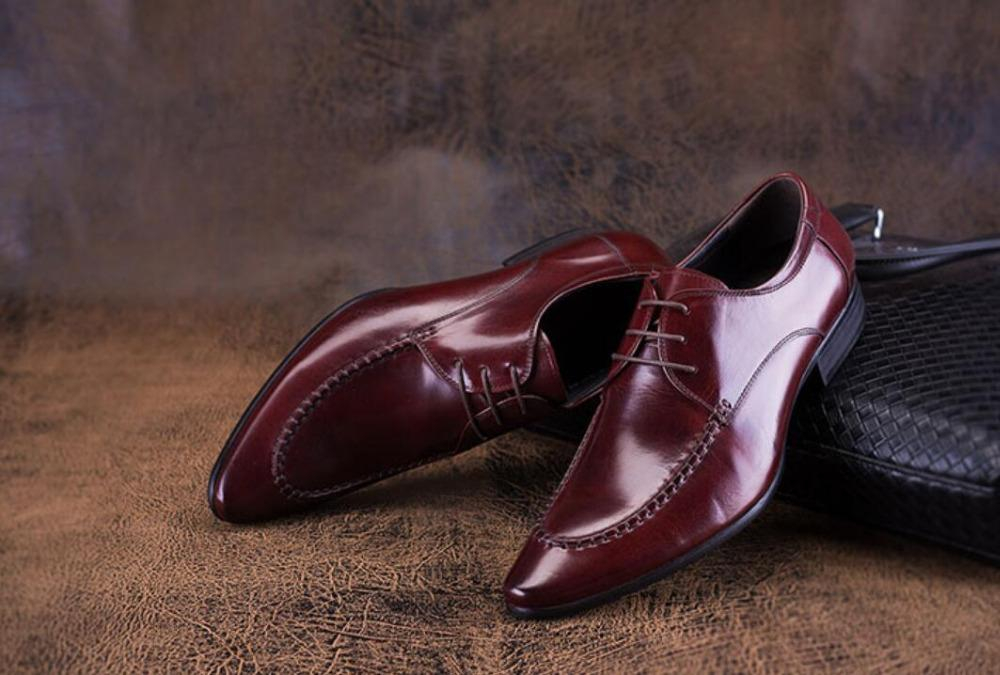 Wine Red Man Patent Leather Fashion Oxfords Shoes 2018 Lace Up Spring  Autumn Businessman Office Formal Suits Oxfords Tuxedo Shoe Casual Shoes  Women Shoes ... 983dbde0de64
