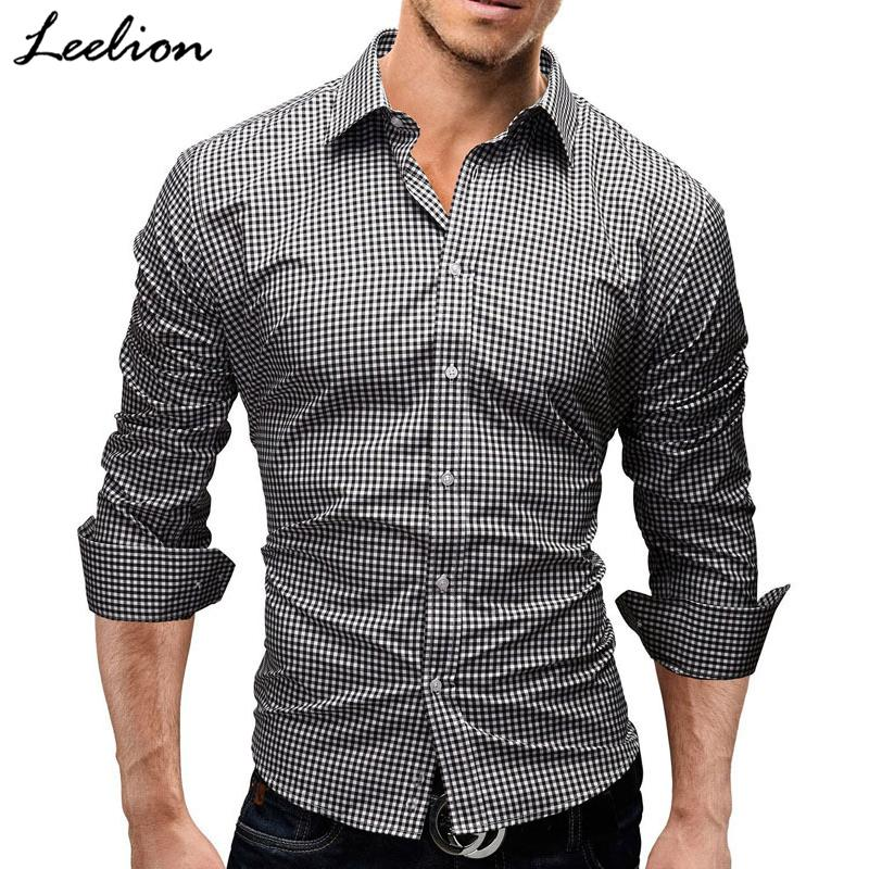 998d49b171d 2019 LeeLion 2018 Spring Plaid Shirt Men Long Sleeves Slim Fit Dress Shirt  Men S Casual Shirt Fashion Brand Camisa Social Masculina D18102901 From  Tai002