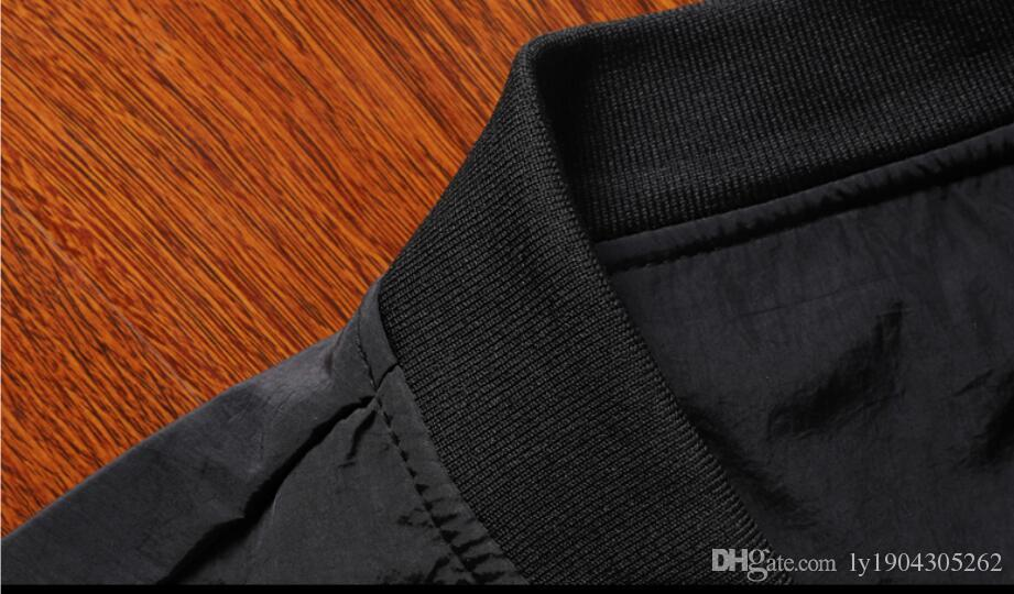 Koreanische Casual Gepolsterte Kragenjacke Baseball Bestickte Kleidung Frühling Herbst Samt Plus Schlank Der Trend Winter Männer Und Jacke zMVpSU