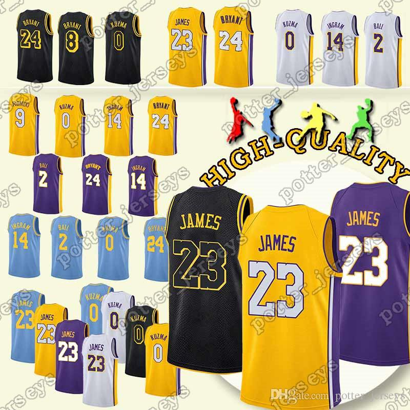 d1cdb515e8d 2018 Cheap Sales Los Angeles 23 LeBron James Jerseys Lakers 24 Kobe ...